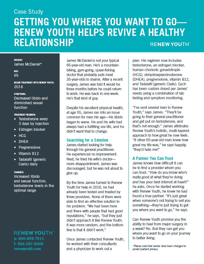 Getting You Where You Want To Go. <strong>Renew Youth Helps Revive A Healthy Relationship</strong>