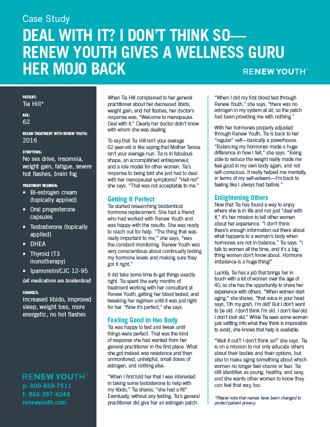 Deal With It? I Don't Think So. <strong>Renew Youth Gives A Wellness Guru Her Mojo Back</strong>